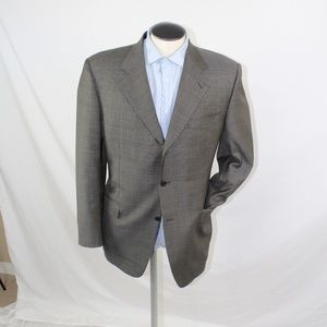 Canali plaid 3 roll 2 button sport coat 44R US